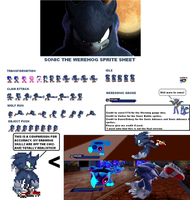 Werehog Sprite Sheet Version 2 by dratinifan13