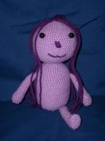 Crochet: One-legged Troll by HookedonPlushies