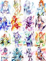 WatercolorCirlsDota2Finish by JunKazama15