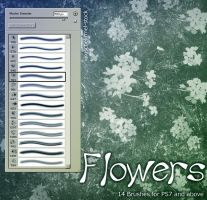 Flower Brushes by kuschelirmel-stock