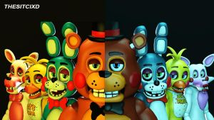 Five Nights at Freddy's 2 (SFM) New and Old by TheSitciXD