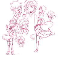 Unnamed Magi doodle dump by NyonRoleplays