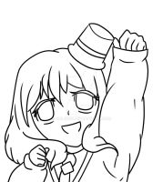 WIP Akemi Chibi - Lineart by calioon