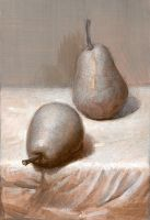 Two Pears. 2003 by Yudaev