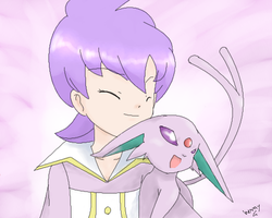 Anabel and Espeon by hermyon