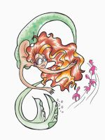 Spiral Mermaid by after-the-funeral