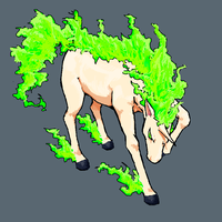 green rapidash by earlgengar