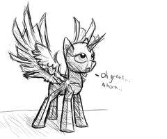 Oh look, a horn appeared by DarkFlame75