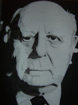 Alfred Hitchcock Drawing by nobii