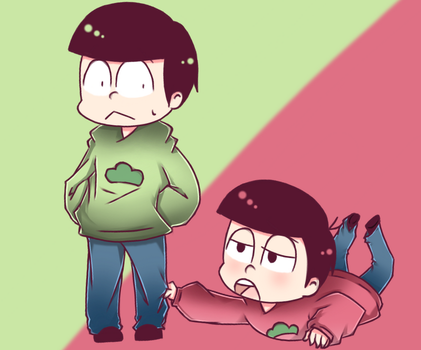 Choro-senpai and Oso-kun by Miryam123