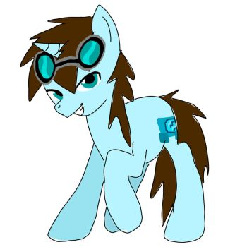Dantdm (the diamond minecart) pony by Mewvulpix25