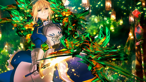 Saber Wallpaper (1366-768) by Aegid