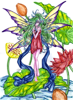 -Fairy and water lilies- by Seraphim05