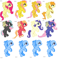 Adoptable Shipping Ponies Set 2- Fluttershy by StarSwirl12