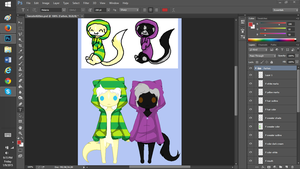 WIP my adopted babies by KiraNightViolet