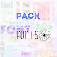 +Pack 20 fonts tipo tumblr by CocoBenymon