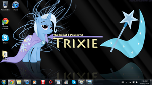The Great and powerful Trixie desktop by SuperShadiw1010