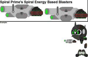 Spiral Prime's Spiral Energy Based Blasters by YellowNinja123