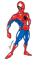 SketchSaturday Spidey by A-Deadless-Mad-Man