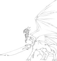 Dragon Girl (Photoshop outline) by MaidenOfTheBlade