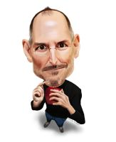Steve Jobs by santoshredekar