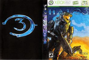 My makeshift Halo 3 cover... by Art-Gem