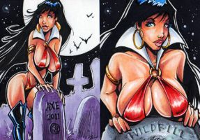 Vampirella sketch samples 1 by Axebone