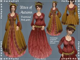 Rites of Autumn Celtic Gown by Elvina-Ewing