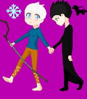 Jack Frost and Pitch Black by EdwardElricLover12
