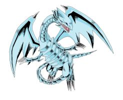 Blue Eyes White Dragon Pixel by RKCrystalSoul