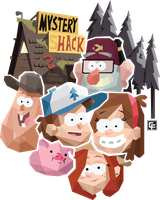 Gravity Falls (Geometric) by calfrills