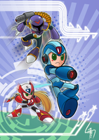 Megaman X chibi by gaspineitor