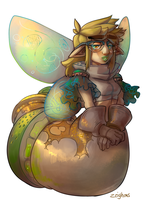 MonsterDrink: Lemon-Lime Soda Snake Fairy....Thing by Zeighous