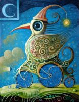 Crazy Cyclist IV by FrodoK