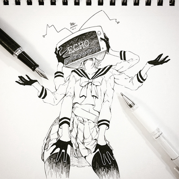 Inktober #3: ECHO by Aka-Shiro