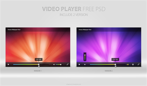 Video Player Free PSD by anhgreen123