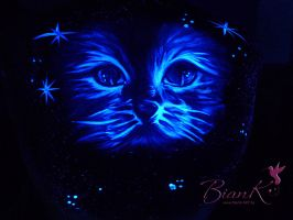 Fluo painting cat by Biank-ART