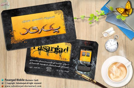 Business Card Pasargad mobile 3 by zahednejad