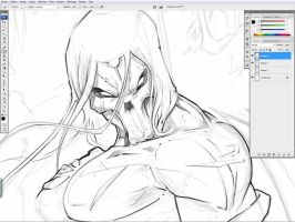 WIP darsiders 2 sketch by Vinz-el-Tabanas