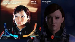 FemShep ME2 and ME3 Comparison by theclumsyninja