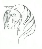 Tribal Horse design by SaddlePatch