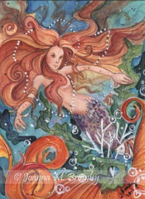 ACEO Copper Mermaid