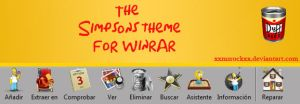 The Simpsons theme for winrar by xxmsrockxx
