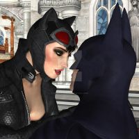 Catwoman x Batman Face to Face by RyuAensland