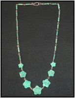 Turquoise Flower Necklace by RebelATS