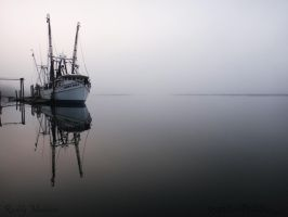 Shrimp Boat in the Mist by PaddleGallery