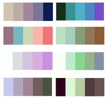 3 Color palette Adoptable CLOSED by KamiSai