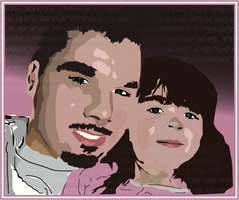Vector Of My Niece And I by Komic-Graphics