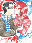 ~Hot kiss in cold Winter~ by CrazyVik97