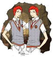 Weasley Twins by maknateukie